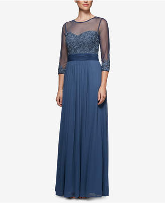 Alex Evenings Embroidered Sweetheart Gown