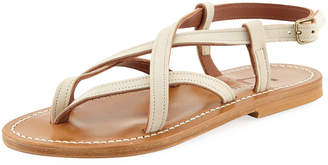 K. Jacques Ingrid Flat Leather Sandal