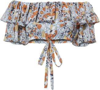 Alexis Adona Off Shoulder Floral Crop Top