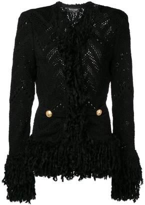 Balmain knitted fringe cardigan