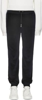 Versace Navy Velour Lounge Pants $775 thestylecure.com