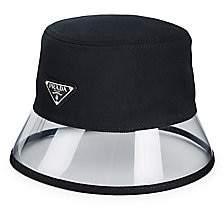 Prada Women's Textile & Plexiglass Bucket Hat