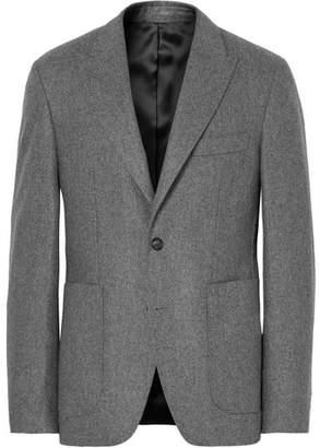 Privee SALLE Grey Lloyd Slim-Fit Mélange Wool-Flannel Suit Jacket
