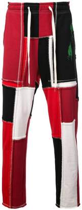 Puma Maison Yasuhiro colour block jersey trousers