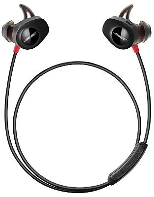 Bose SoundSportTM Pulse Sweat & Weather-Resistant Wireless In-Ear Headphones with Heart Rate Sensor, Bluetooth/NFC, 3-Button In-Line Remote & Carry Case, Red/Black