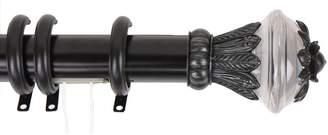 Rod Desyne Paradise Traverse Adjustable Black Curtain Rod & Rings - 30'' - 48''