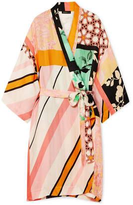 Stine Goya Naty Printed Satin Kimono - Pink