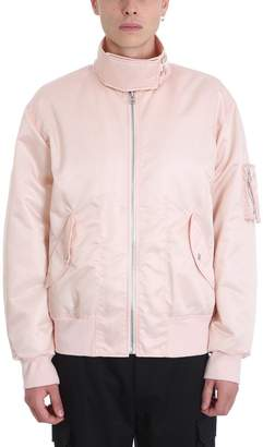 Helmut Lang Pink Nylon Bomber Jacket