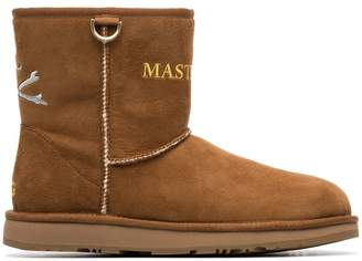 UGG Mastermind World x brown suede logo boots