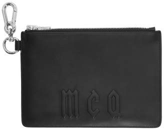 McQ Black Leather Passport Holder