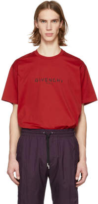 Givenchy Red Vintage Logo T-Shirt