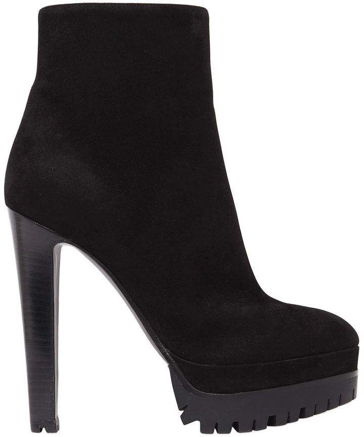 130mm Suede Ankle Boots