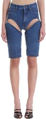 Y/Project Cutout Blue Denim Shorts