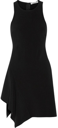 Elizabeth and James - Hattie Asymmetric Ruffled Cady Mini Dress - Black $385 thestylecure.com