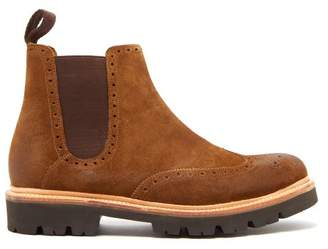 Grenson Arlo Suede Chelsea Boots - Mens - Brown