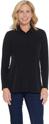 Every Day by Susan Graver Liquid Knit Button-Front Shirt