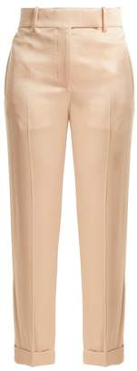 Haider Ackermann Kuiper High Rise Satin Trousers - Womens - Light Pink