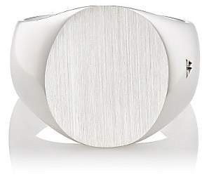 Tom Wood Women's Sterling Silver Oval Signet Ring - Silver