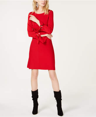 INC International Concepts I.n.c. Petite Grommet-Detail Sweater Dress