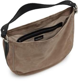 Amanda Wakeley Large Suede Mara Hobo Bag in Sand
