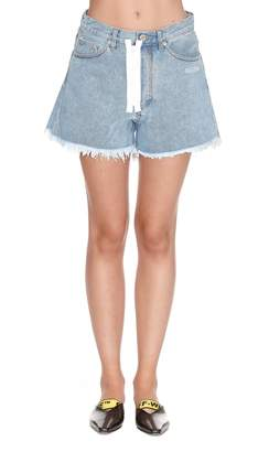 Off-White Off White Embroidered Shorts
