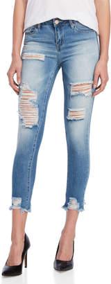 YMI Jeanswear DreamFit Mid-Rise Ankle Skinny Jeans
