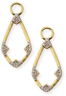 Jude Frances 18k Lisse Open Diamond Kite Earring Charms