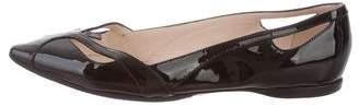 Bottega Veneta Patent Leather Cutout Flats