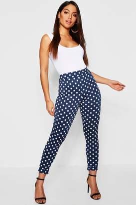 boohoo Polka Dot Skinny Trousers