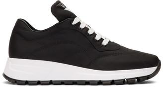 Prada Black Nylon Leather Prax 01 Sneakers