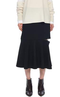 Tibi Anson Stretch Cut Out Skirt