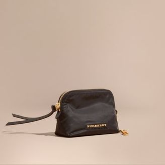 Burberry Small Zip-top Technical Nylon Pouch $150 thestylecure.com