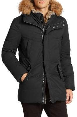 Mackage Fur-Trim Hip-Length Down Jacket