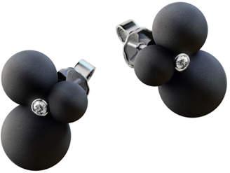 André Ribeiro Matte Rubber Globes Diamond Stud Earrings