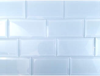 Abolos Frosted Elegance 3 x 6 Glass Subway Tile in Glossy Blue