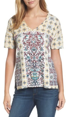 Women's Lucky Brand Moroccan Tile Print Tee $39.50 thestylecure.com