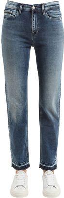 High Rise Straight Cotton Denim Jeans $173 thestylecure.com