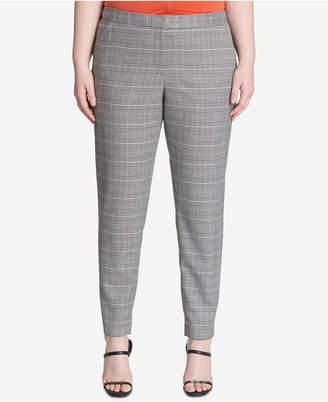 Calvin Klein Plus Size Plaid Straight-Leg Pants