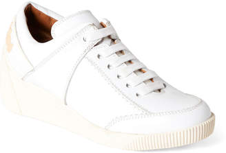 b609b906c5 See by Chloe White Duncan Leather Wedge Sneakers