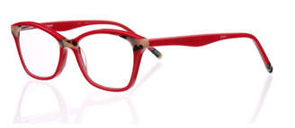 Eyebobs Not Tonight Square Acrylic Readers, Red/Brown