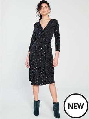 Warehouse Multicolour Spot Dress
