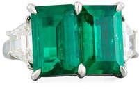 N-M Jewelry Shop Platinum Emerald & Diamond Ring