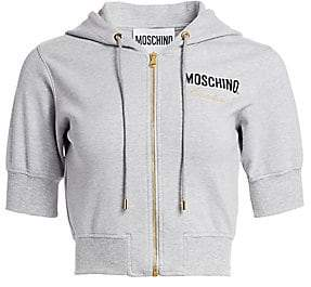 Moschino Women's Short-Sleeve Hooded Cropped Sweater