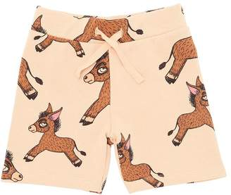 Mini Rodini Donkey Print Organic Cotton Shorts