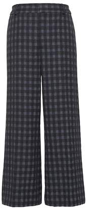 Banana Republic JAPAN ONLINE EXCLUSIVE Blake Wide Leg-Fit Cropped Gingham Pant