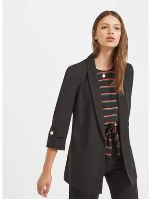 Miss Selfridge Black Tab Sleeve Blazer