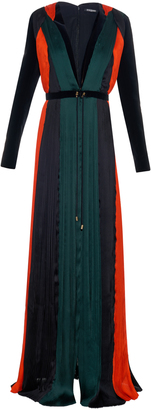 BALMAIN Pleated silk-chiffon gown $7,100 thestylecure.com