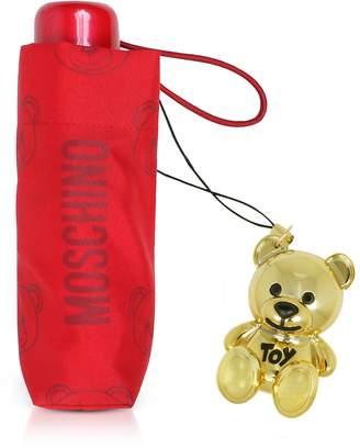 Moschino Teddy Bear Supermini Umbrella w/Golden Charm