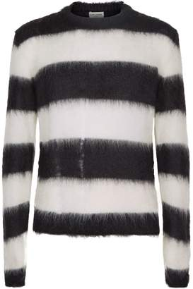 Saint Laurent Striped Mohair Sweater