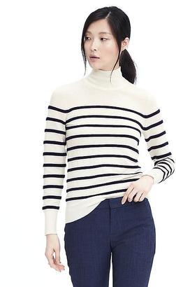 Ottoman Stripe Mock Pullover $78 thestylecure.com